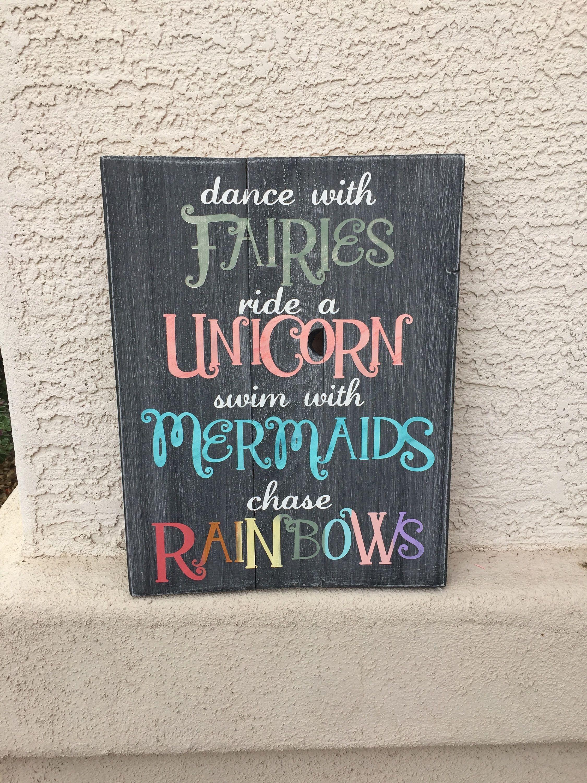Unicorn Bedroom Set: Dance With Fairies-ride A Unicorn-swim With Mermaids-chase