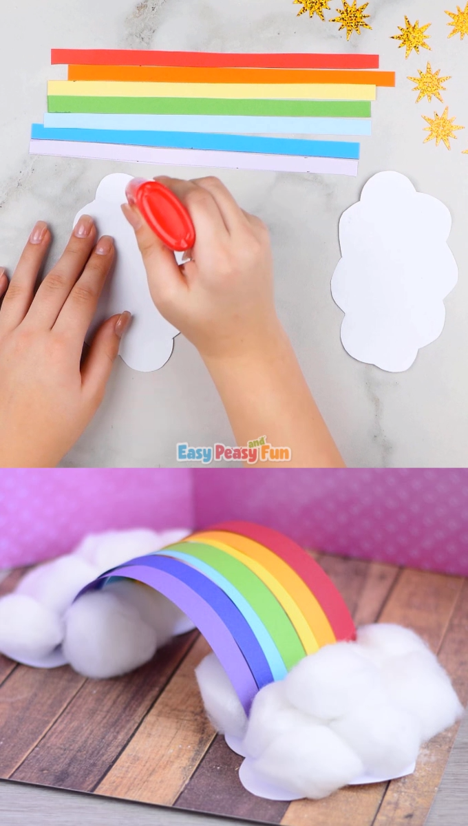 Photo of Simple 3D Rainbow Paper Craft