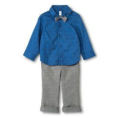 Newborn Boys' Top And Bottom Set- Blue Blazes 0-3 M