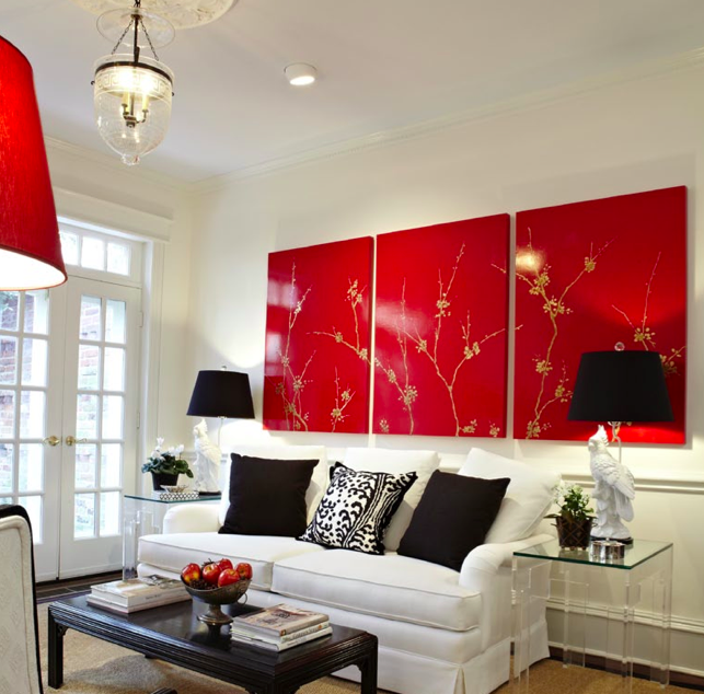 T H E V I S U A L V A M P It Speaks Volumes Living Room Red Small Living Room Decor Family Living Rooms #red #and #black #living #room #decorating #ideas