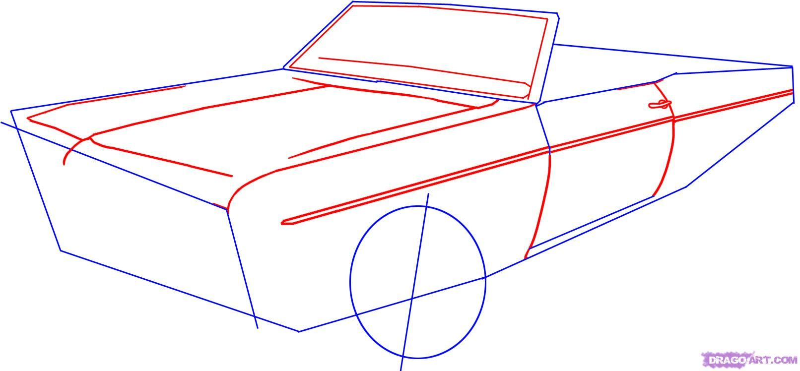 How To Draw A Lowrider Car Step 2