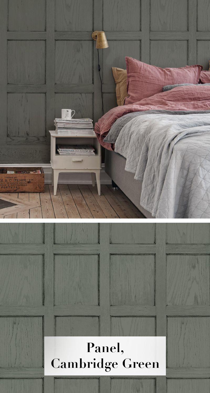 panel cambridge green tapeten f r 39 s schlafzimmer pinterest flur tapete tapete holz und. Black Bedroom Furniture Sets. Home Design Ideas