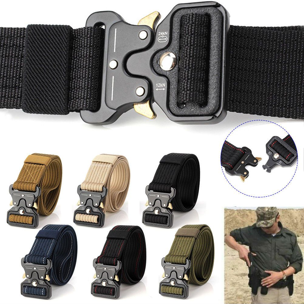 Men Adjustable Tactical Combat Web Buckle Waistband Military Rescue Rigger USA