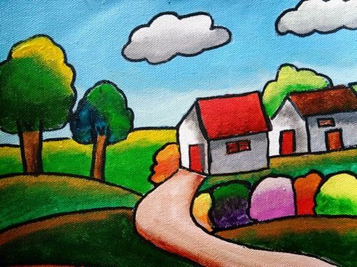 Learn Blending Acrylic Paints To Create Landscapes