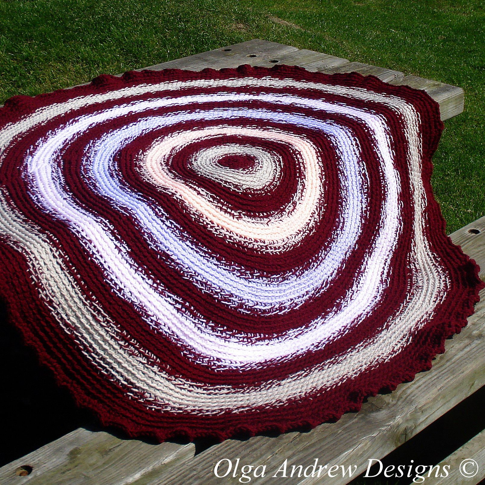 Round blanket crochet pattern blanket circular crochet blanket ...