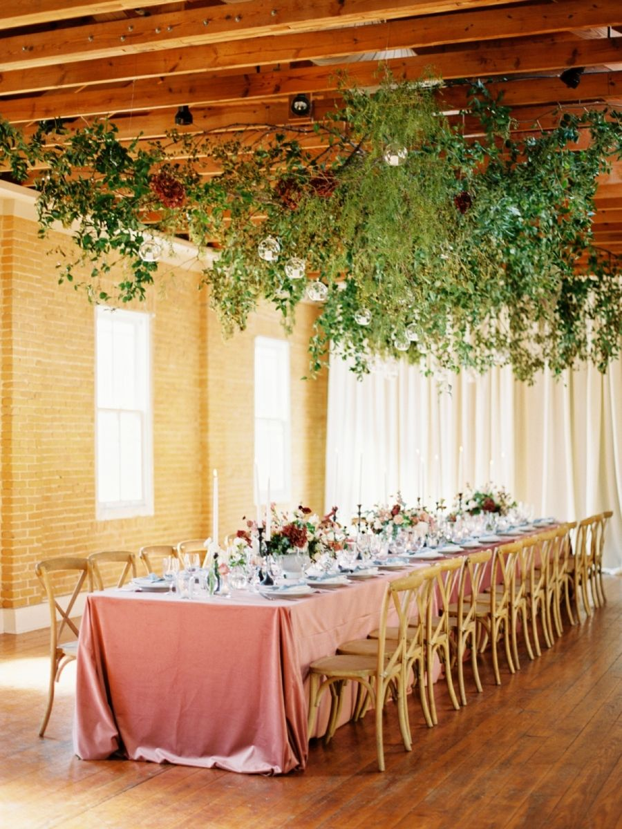 Garden wedding reception decor  Say Hello To Our New Favorite Garden Wedding  Marquee events