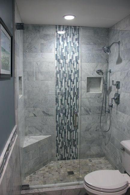 Shower Glass Block Shower Wall Designs Good Example Of A Recessed Product Niche In Tile Whi Rekonstrukciya Dushevoj Dizajn Plitki V Dushe Nebolshie Vannye Komnaty