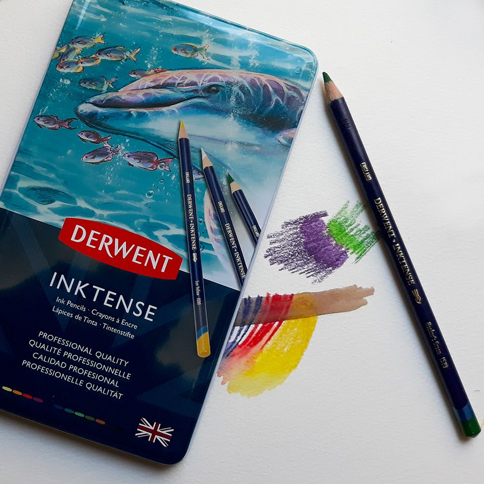 Inktense Pencil Leads Are Soluble In Water They Turn Into