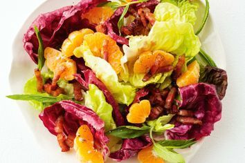 Mandarin and pancetta salad