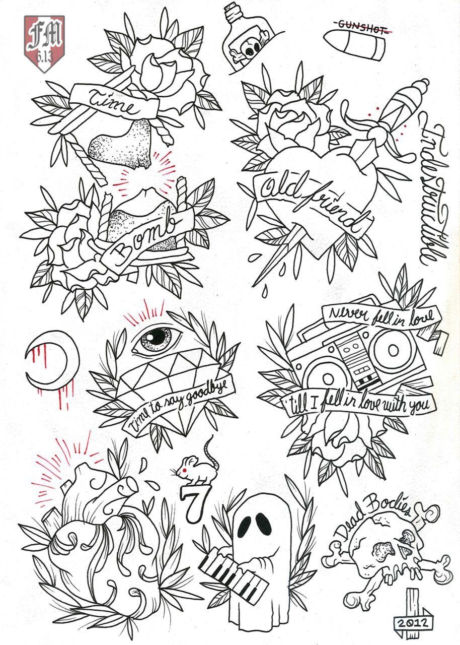 Rancid Tattoo Design Color