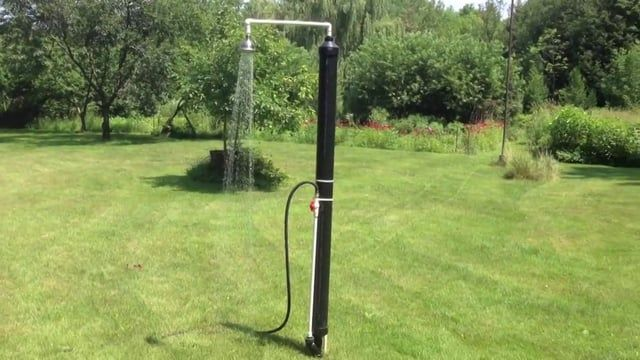 This Diy Outdoor Solar Shower Is To Be Connected To A Regular