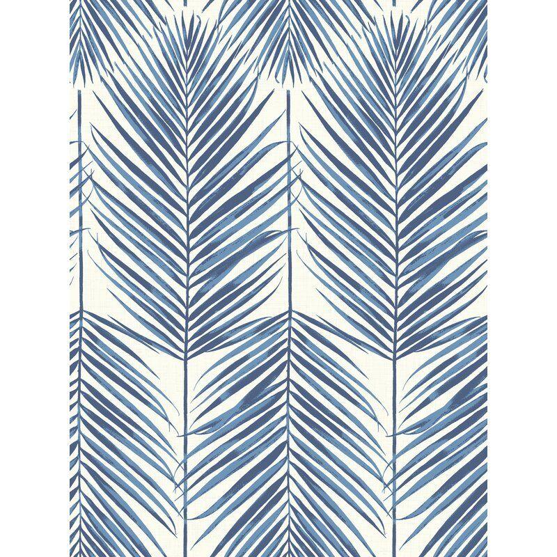 Jaydon 27 L X 27 W Wallpaper Roll Palm Leaf Wallpaper Leaf Wallpaper Wallpaper Roll