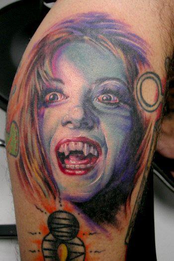 e268c12e7 Vampire Girl Color Tattoo | Vampire Tattoos | Vampire tattoo, Tattoo ...