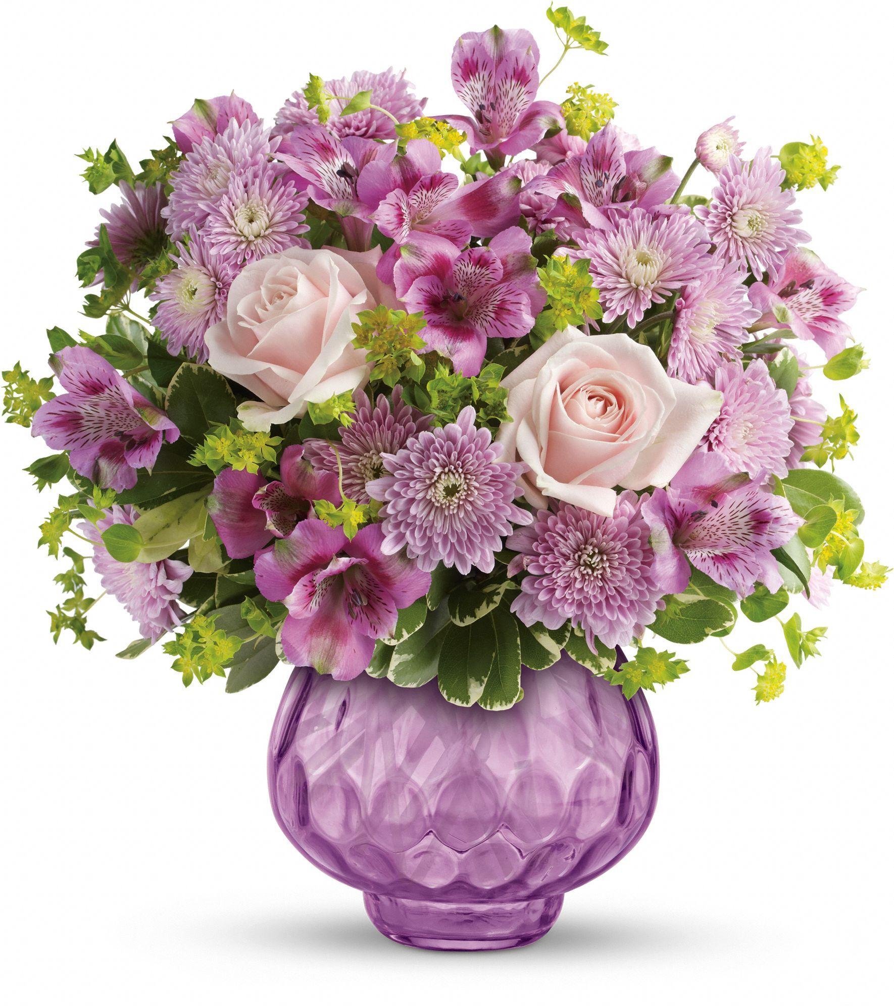 Teleflora S Lavender Chiffon Bouquet Get Well Flowers Flowers Lavender Flowers