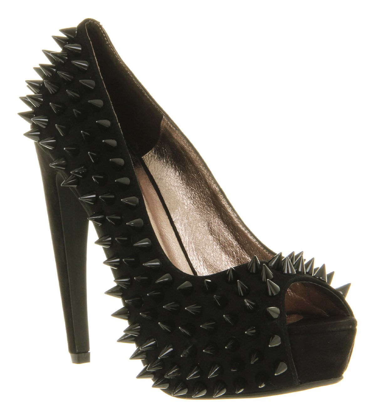 Jeffrey Campbell During Spike High Heel Black Suede - High Heels from OFFICE