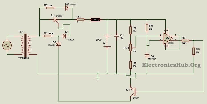 how to make battery charger circuit using silicon controlled rh pinterest com