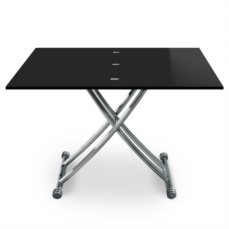 Table Basse Relevable Carrera Noir Laque En 2020 Table Basse Relevable Table Basse Et Table Basse Transformable