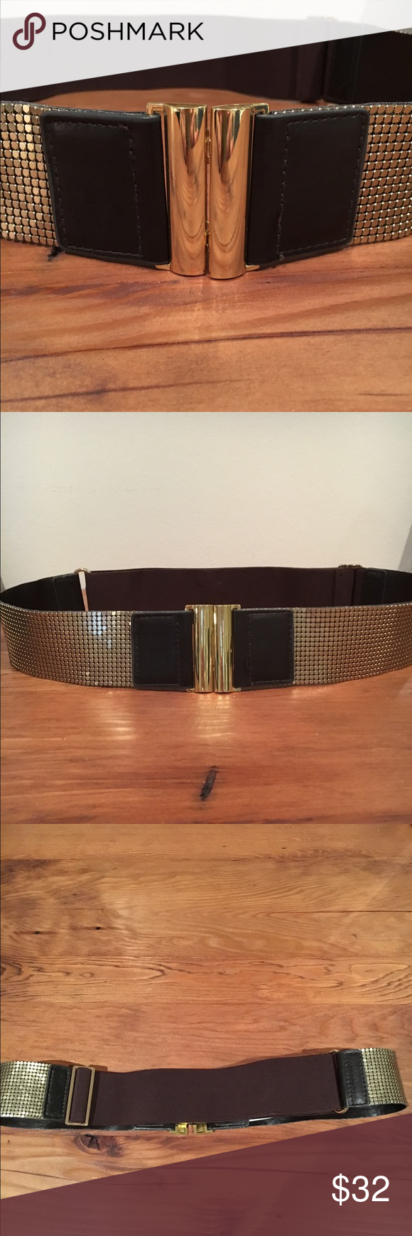 BCBG adjustable gold belt This is a beautiful belt from BCBG. I love that it's adjustable as you can cinch a dress or sweater at the waist. So classy and dresses up any outfit. BCBG Accessories Belts