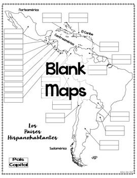 Spanish-Speaking Countries Maps and Quizzes | Spanish 1 | Pinterest ...