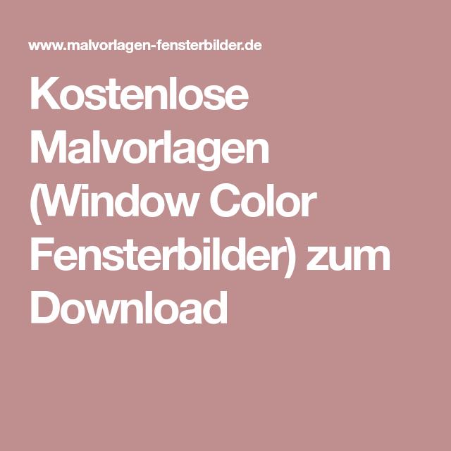 kostenlose malvorlagen window color fensterbilder zum