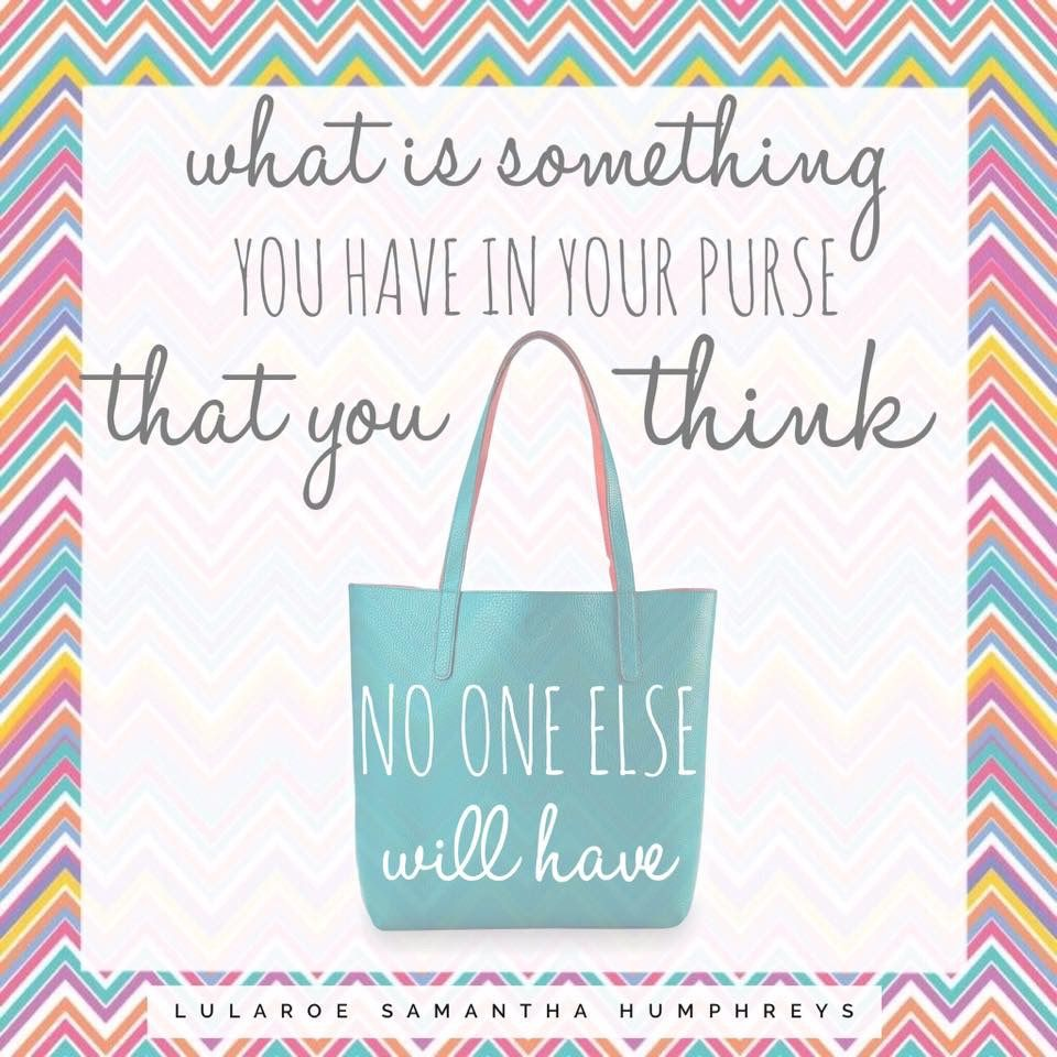 LuLaRoe Engagement post- What's in your bag?!