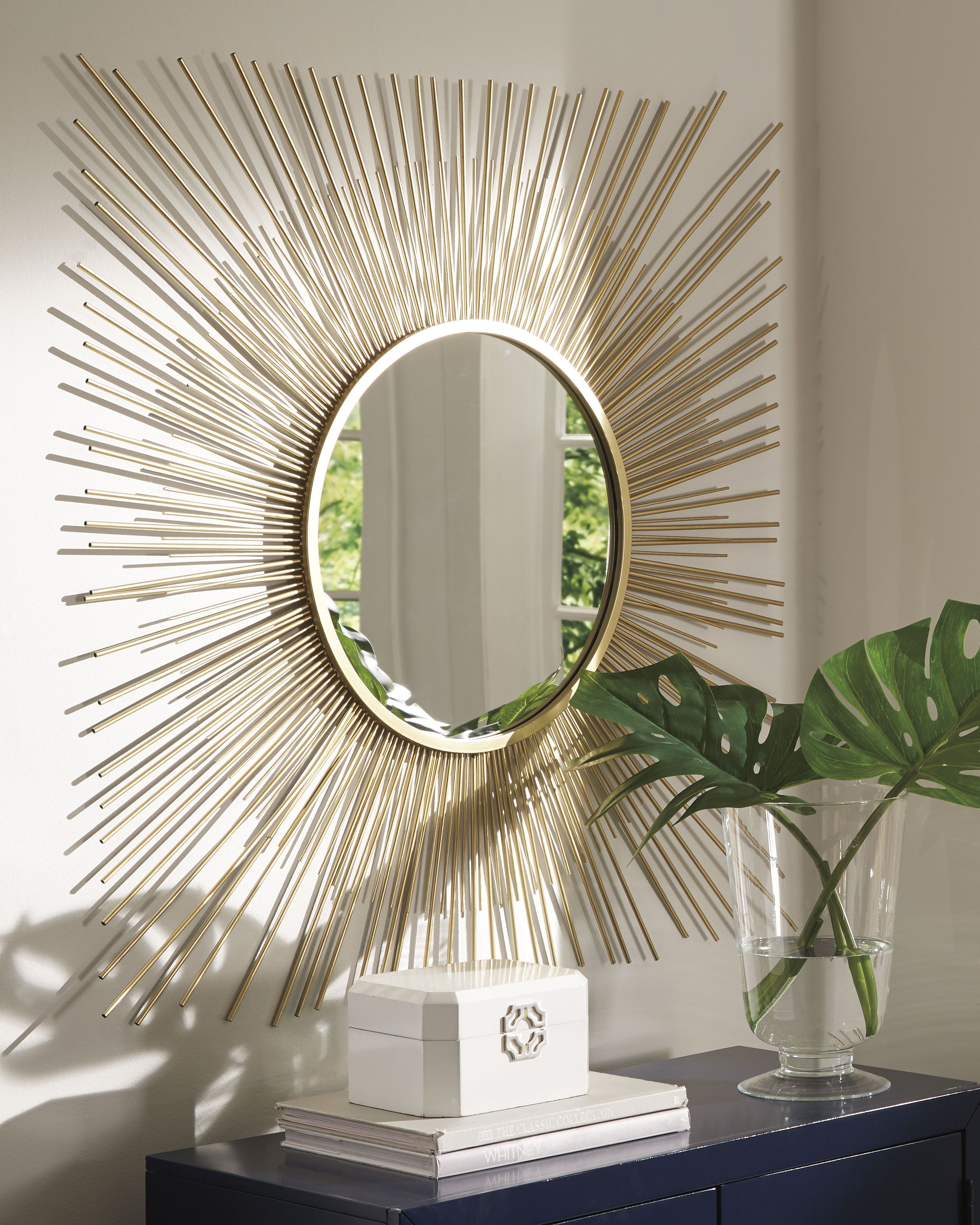 Elspeth Accent Mirror Gold Finish In 2020 Home Decor Styles