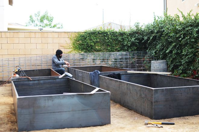Cor Ten Steel Garden Beds Cakies Metal Raised Garden Beds