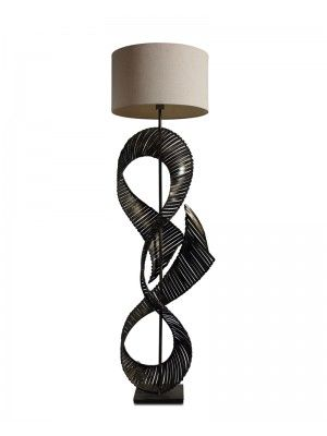 Iron Wire Is Desinged Into Silk Ribbon Decorated This Floor Lamp. With  Stylish Imagination Makes