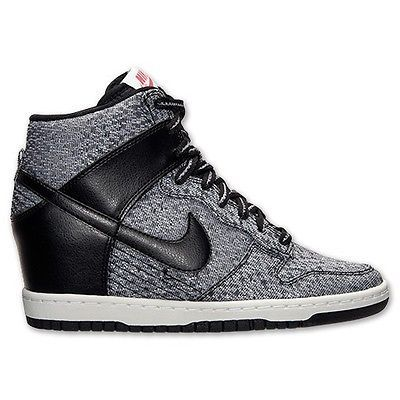 low priced b5e10 08348 644410-001 Womens NIKE DUNK SKY HI TXT WEDGE SHOE SNEAKER-BLACK  BRAND NEW