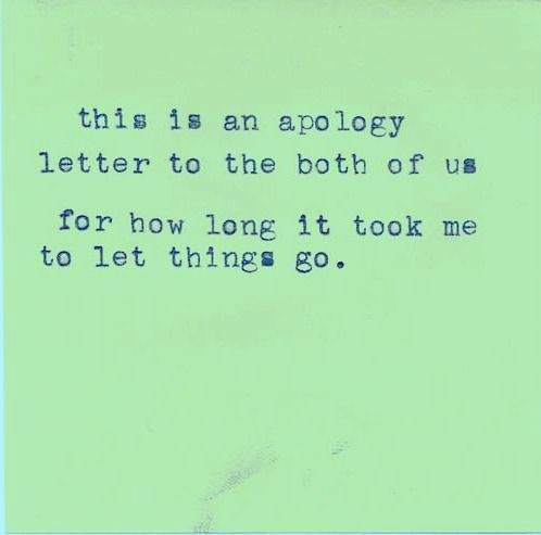 this is an apology letter to the both of us for how long it took - apology letter