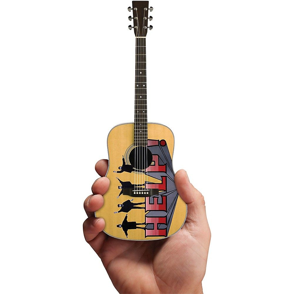 43cce38fc84 Axe Heaven Help! Fab Four Tribute Acoustic Guitar Officially Licensed Miniature  Guitar Replica  acousticguitar