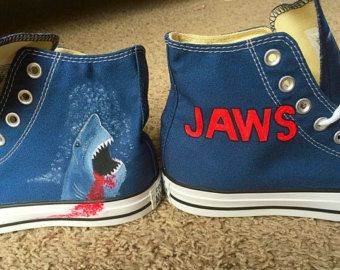 84aca8ec7d45 Hand painted Jaws shoes
