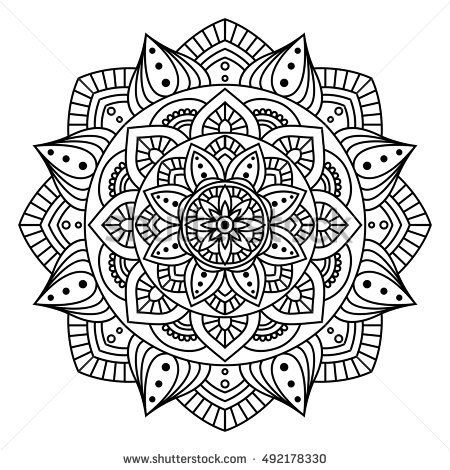 Round Indian Ornament / Hand Drawn Mandala /Geometric