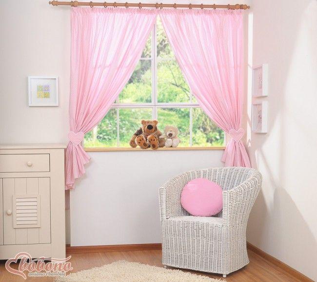 Bobono Vorhang Herzchen rosa Punkte Kinderzimmer Gardine | Zimmer ...