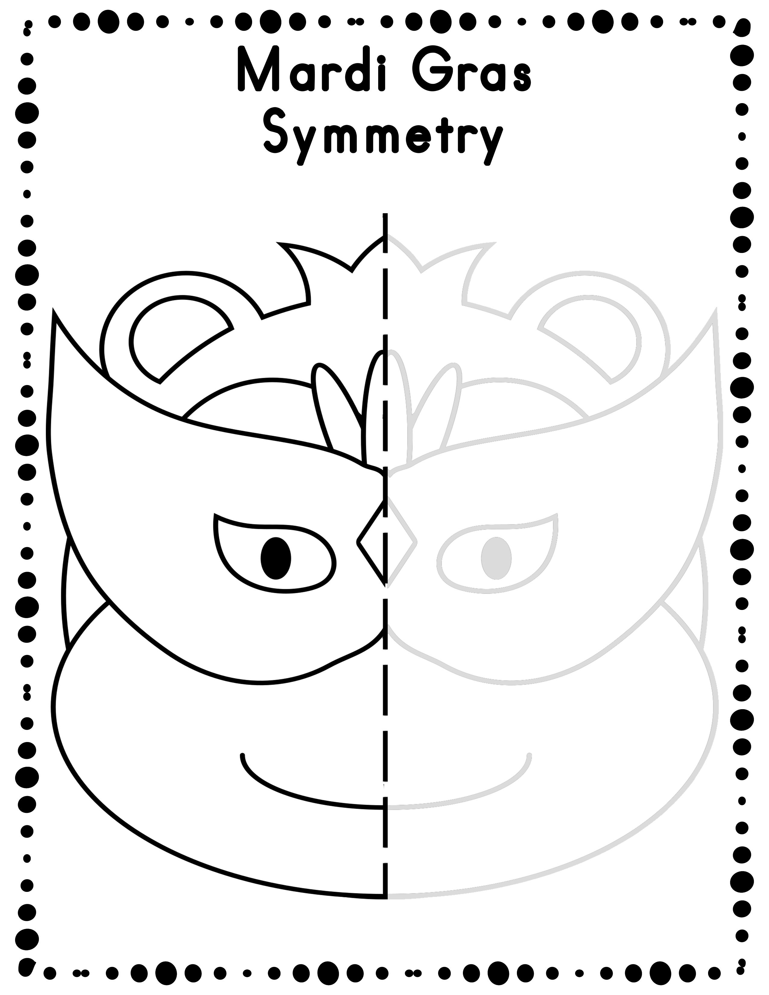 worksheet Mardi Gras Worksheets mardi gras symmetry drawing activity for art and math worksheets