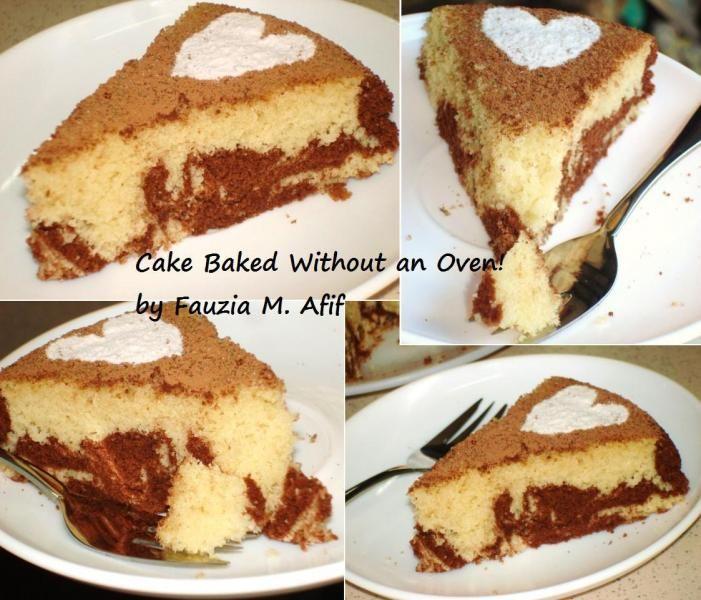 marble cake baked without oven fauzias kitchen fun