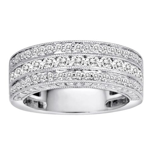 1 Ct Tw Diamond Anniversary Ring Diamond Anniversary Rings Diamond Diamond Wedding Rings