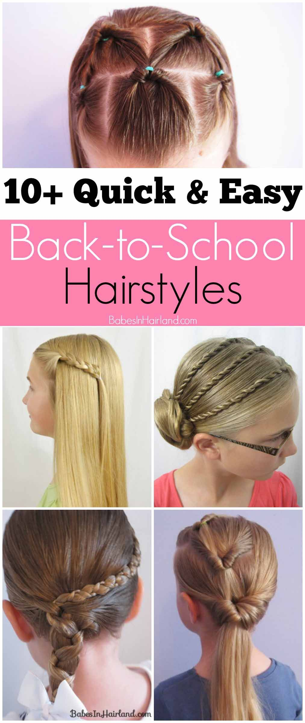 quick and easy backtoschool hairstyles pinterest school