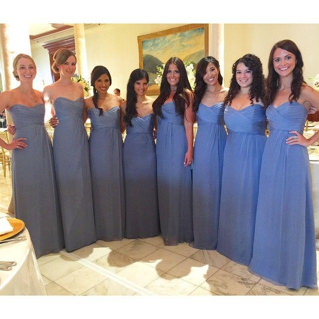 Crinkle Silk Chiffon Hydrangea Amsale Bridesmaid Dresses (G629C) via ...