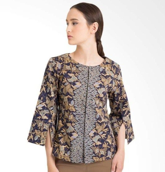 Model Blus Batik Lengan Panjang