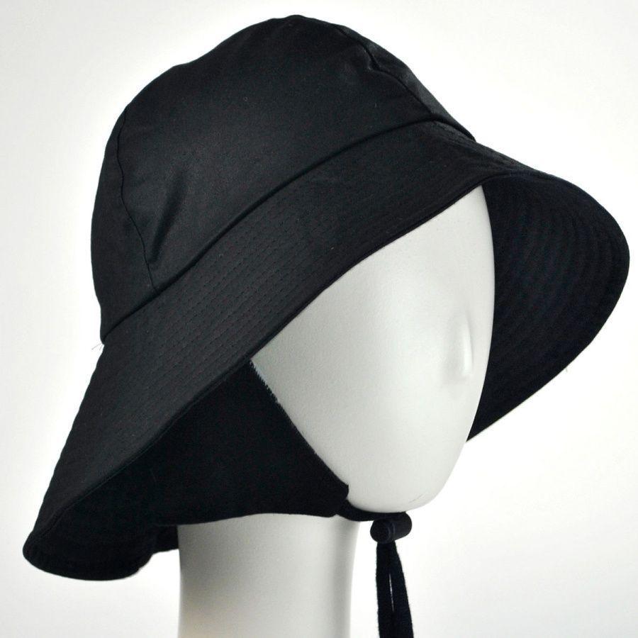 Hills Hats Of New Zealand The Sou Wester Waxed Cotton Bucket Hat Rain Hats Hats Waxed Cotton Rain Hat