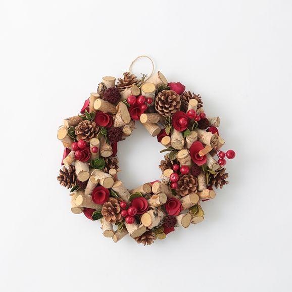 クリスマスリース 白樺&レッドベリー M: インテリア雑貨 デザイン家具 インテリア雑貨 - IDEE SHOP Online