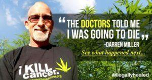 Darren Miller ha guarito il suo cancro ai polmoni, che era stato definito dai medici