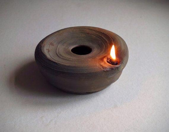 Ceramic Oil Lamp Wabi Sabi Spirit Wood Fired Pottery Ceramic Lamp Oil Lamps Ancient Lamp