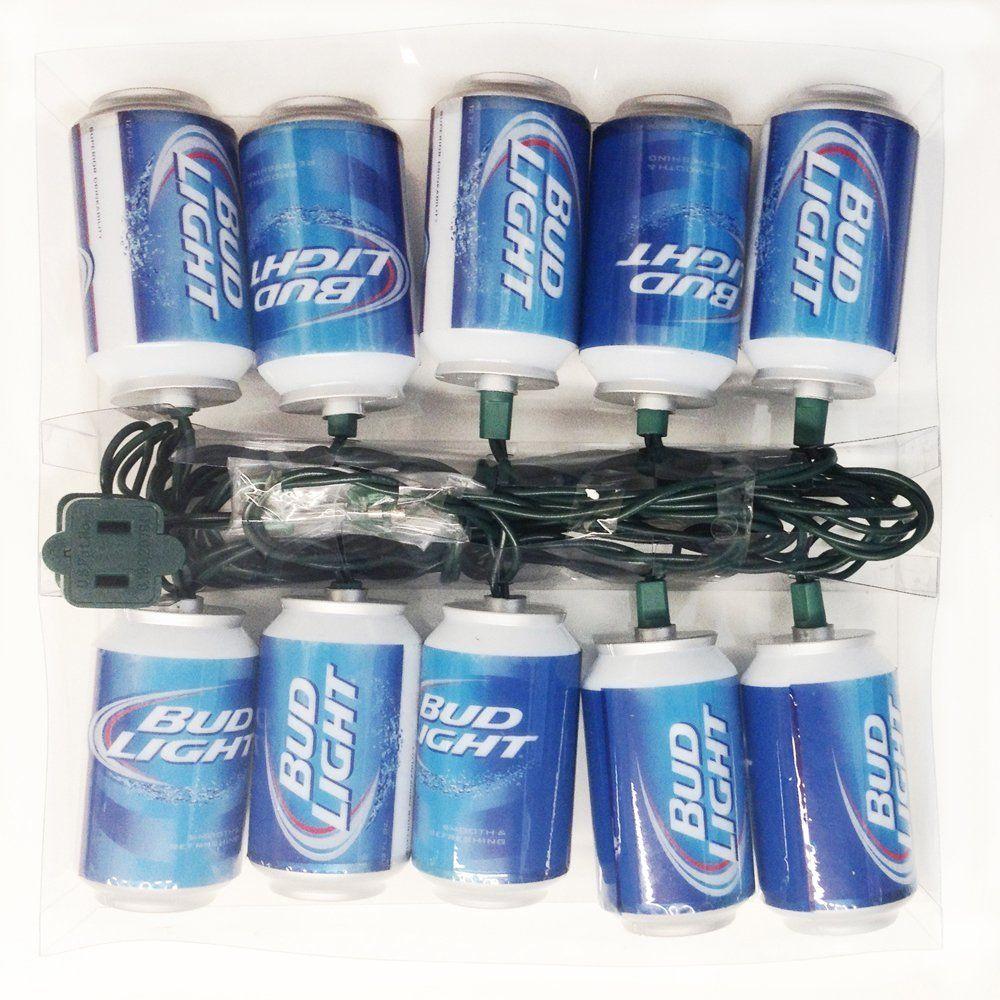Mini light sets for crafts - Amazon Com Budweiser Kurt Adler 10 Light Bud Light Beer Can Light Set