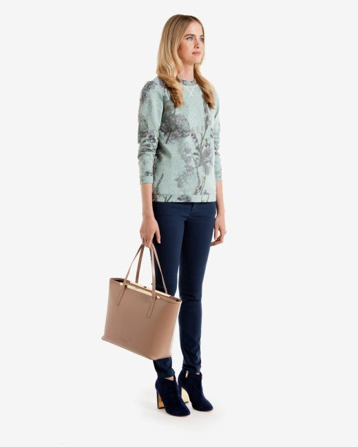Torchlit Floral sweater - Pale Green | Tops & T-shirts | Ted Baker UK