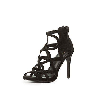 Anne Michelle Caged Dress Sandals