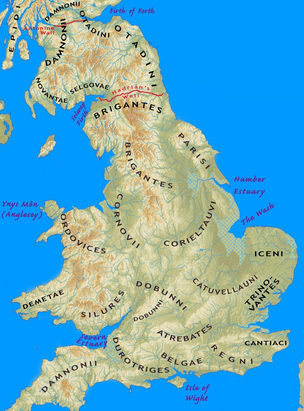 Map Of Southern England Uk.Iron Age Tribes Of Southern Britain Interactive Map