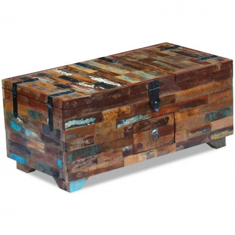 Wooden Coffee Table Box Chest Storage Drawers Living Room Side End Furniture 829377412403 Ebay Chest Coffee Table Coffee Table Wood Wooden Storage Cabinet #storage #trunk #for #living #room