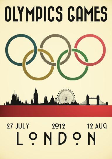 VINTAGE 1948 LONDON UK OLYMPICS A2 POSTER PRINT